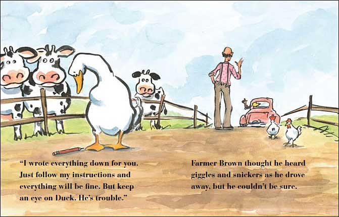 Giggle, Giggle, Quack by Doreen Cronin, illustrated by Betsy Lewin