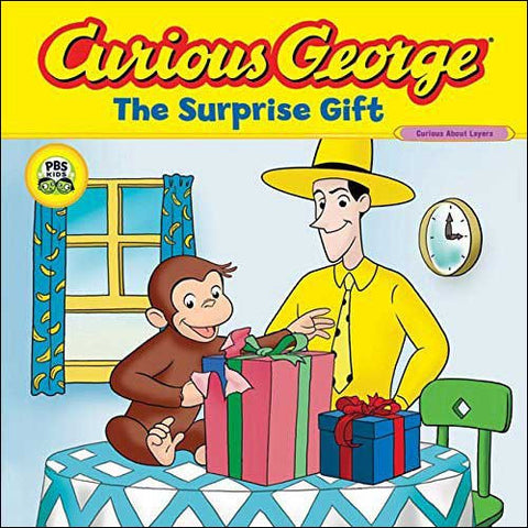 Curious George, The Surprise Gift by Erica Zappy, Margaret and H. A. Rey