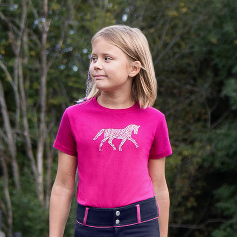 Horze Abbie Kid's T-Shirt with Crystals
