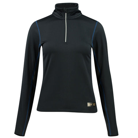 B//Vertigo Roxane Women's Long Sleeve Zip Polo