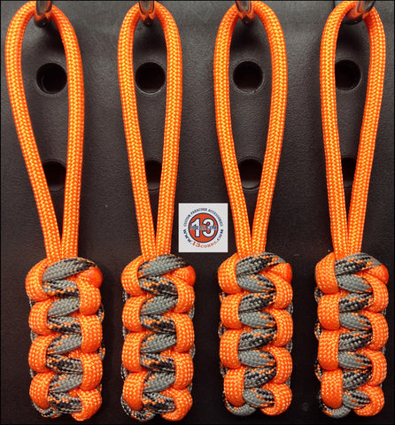 Cobra Zipper Pull Set - Orange Crush/Orange and Gray Camo