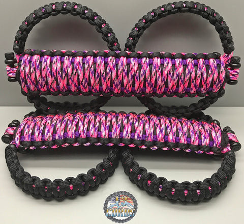 Triple Weave King Cobra Paracord Front Grab Handle Set Jeep Wrangler JK/JKU Country Girl Camo/Black