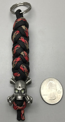 Custom GID Skull and Bones Keychain