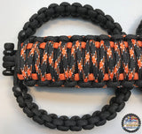 Triple Weave King Cobra Paracord Grab Handle Set Jeep Wrangler JKU Harley/IntlOrange/Black