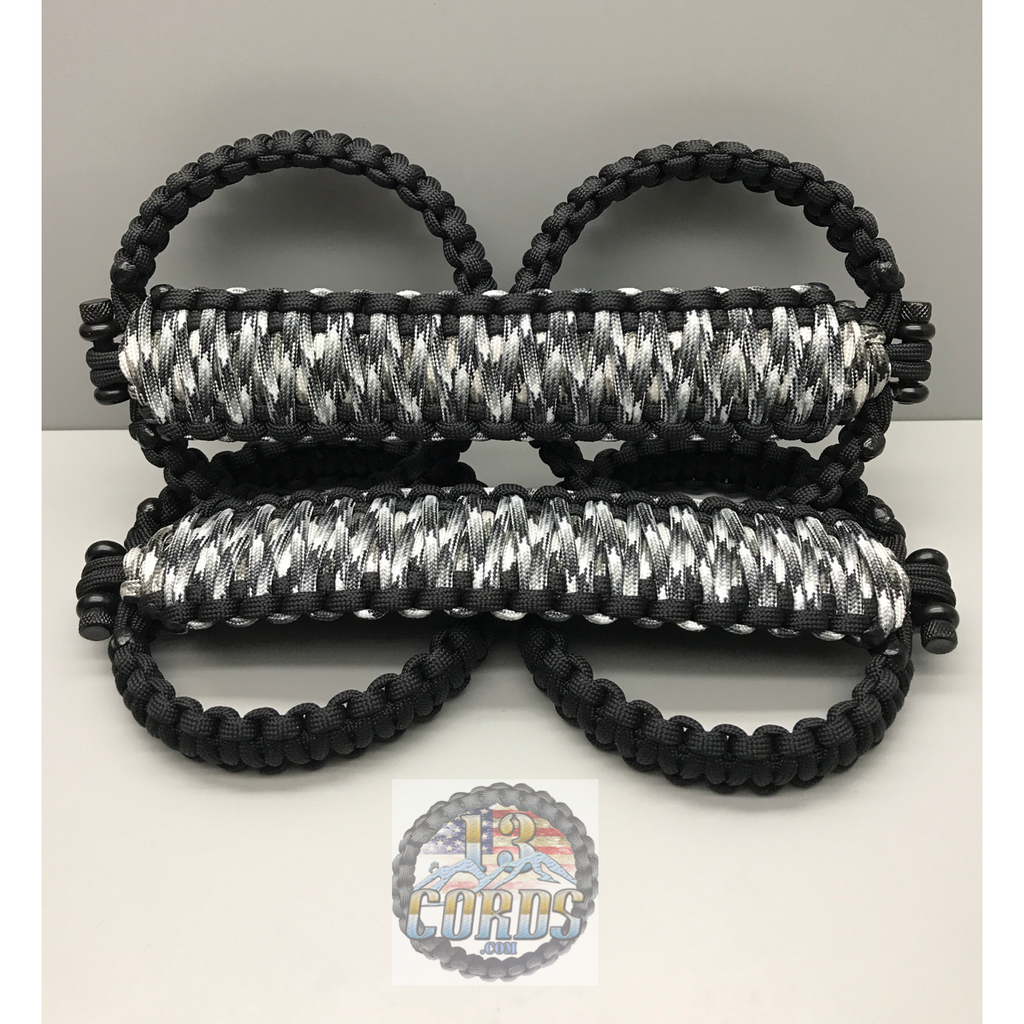 Triple Weave King Cobra Paracord Front Grab Handle Set Jeep Wrangler JK/JKU Urban Camo/Black