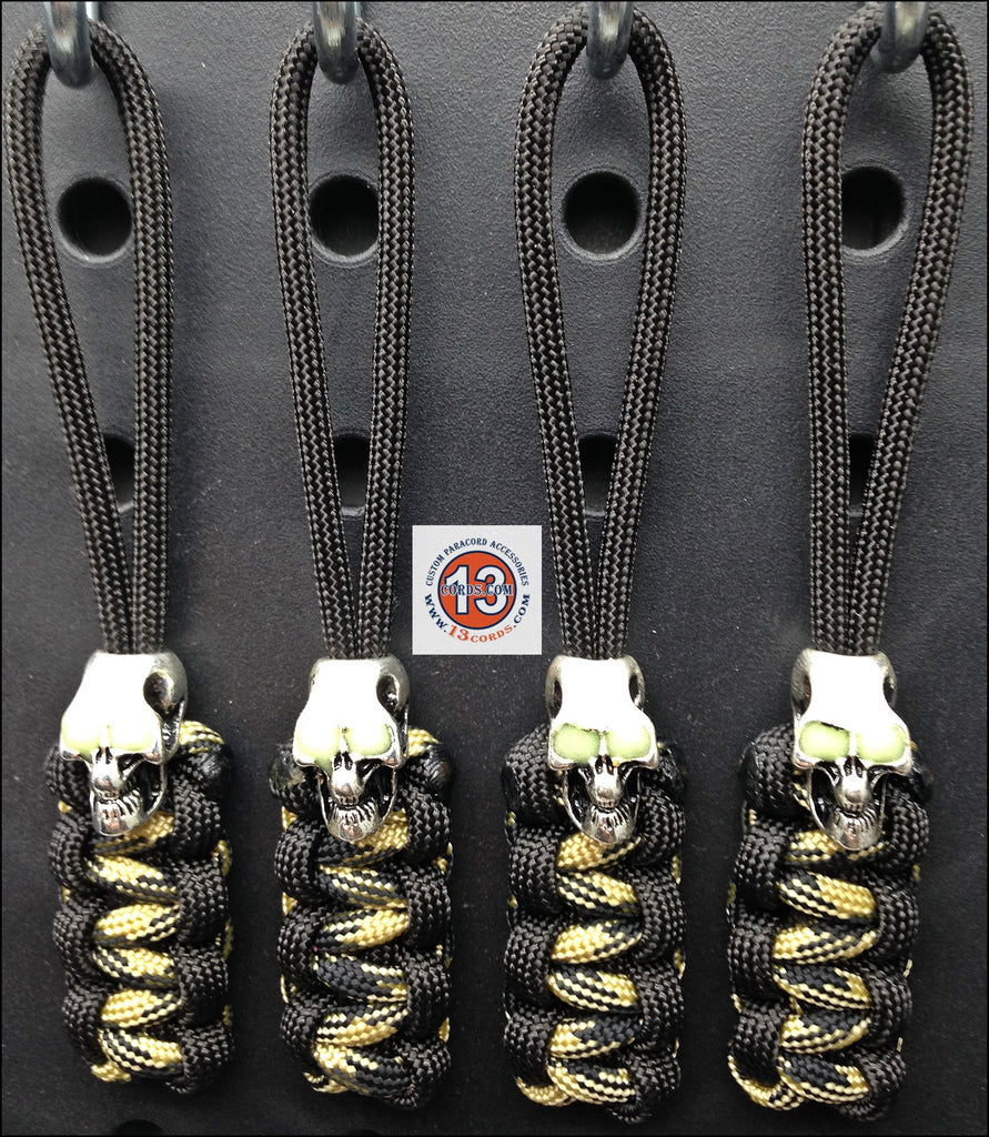 Luminous Skull Cobra Zipper Pull Set - Black/Knights