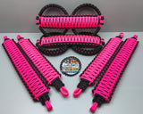 Triple Weave King Cobra Paracord Grab Handle Set Jeep Wrangler JKU Neon Pink/Black