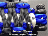 Custom Deluxe Serpent Weave Grab Handle Set JK 2 & 4 Door