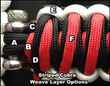 Custom Striped Cobra Grab Handle Set JK Four-door