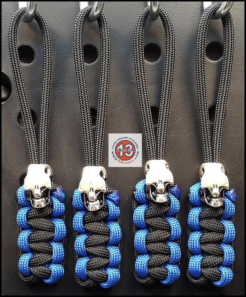 Luminous Skull Cobra Zipper Pull Set - Deepwater Blue/Black