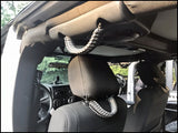 Triple Weave King Cobra Paracord Grab Handle Set Jeep Wrangler JKU Deepwater Blue/Billet/Black