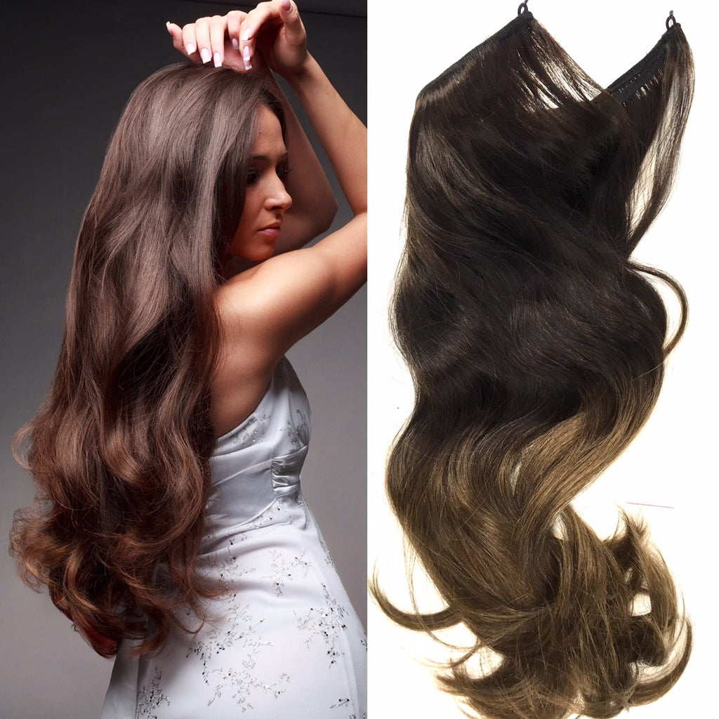 Ombre easy hair extensions with wired attachment 130 grams of ombre easy hair extensions with wired attachment 130 grams of high quality remy hair 20 pmusecretfo Gallery