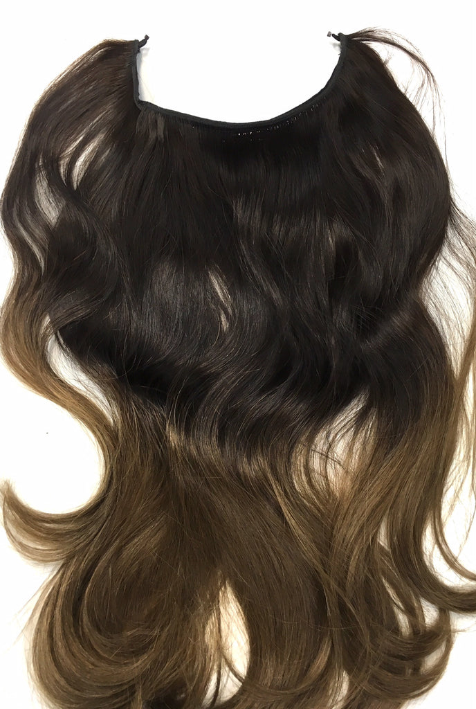 Ombre Easy Hair Extensions With Wired Attachment 130 Grams Of High