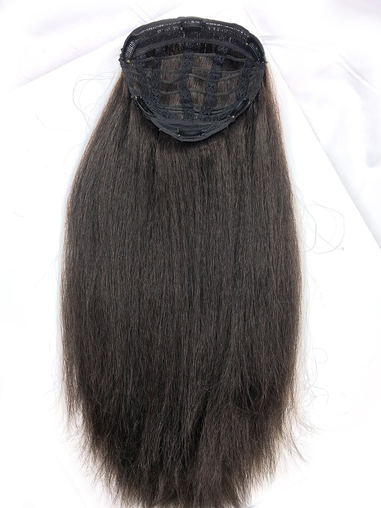 Half Wig With Kinky Straight Hair in 18