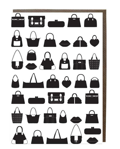 Bags Silhouette Pattern Greeting Card