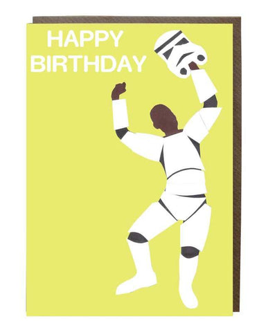 Stormtrooper Happy Birthday Card - sweetdesignstudio