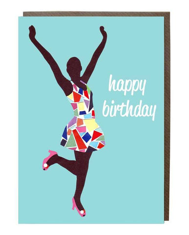 Yippie Happy Birthday Girl Card - sweetdesignstudio