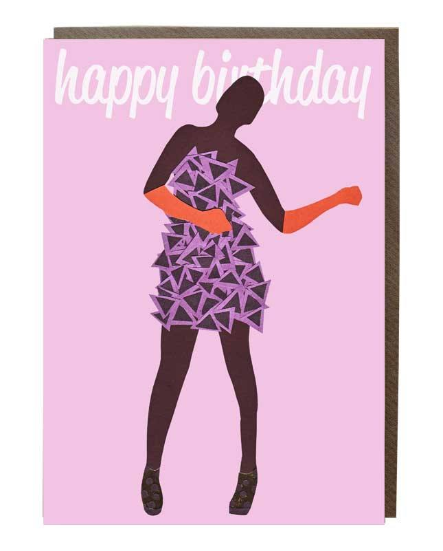 Dancing Happy Birthday Girl Card - sweetdesignstudio