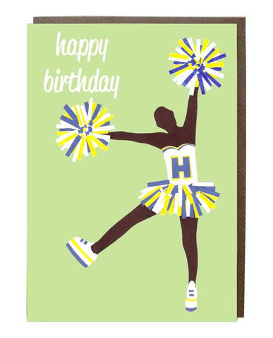 Cheerleader Happy Birthday Girl Card