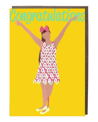 Congratulations girl: Mel Reis @iaimelreis Greeting Card - sweetdesignstudio