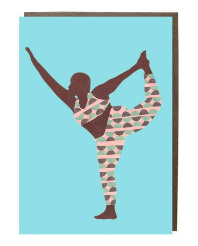 Dancer Yoga Pose Greeting Card @mynameisjessamyn - sweetdesignstudio