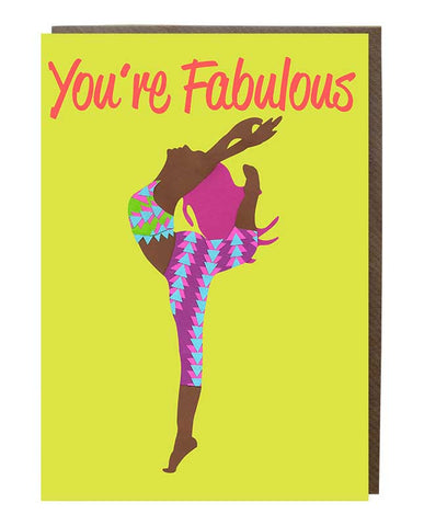You're Fabulous Girl @rebekahletch Greeting Card