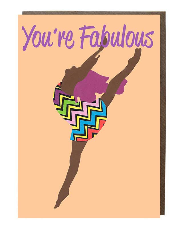You're Fabulous Girl @rebekahletch 'High-flyer' Greeting Card
