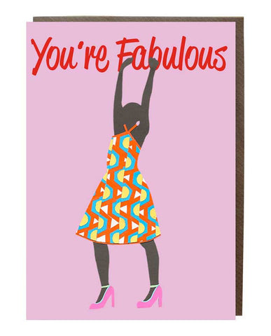 "You're Fabulous 'Arise"" Girl Greeting Card"