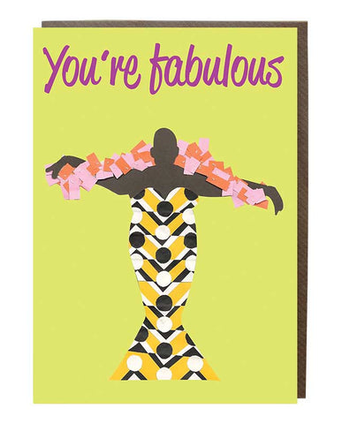 Fabulous Girl Roz The Diva Greeting Card