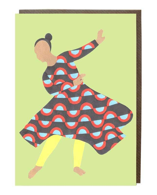 Free Movement Girl Greeting Card @janechan - sweetdesignstudio