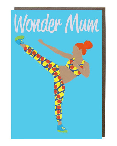 Wonder Mum Girl @adrienne_ldn Greeting Card - sweetdesignstudio