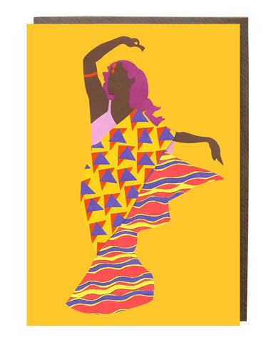 Sari Girl @rebekahletch Greeting Card - sweetdesignstudio