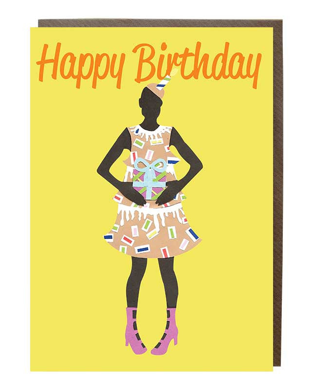 Happy Birthday 'Presents' Girl Greeting Card