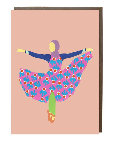 Hijabi Ballerina Girl Stephanie Kurlow Greeting Card