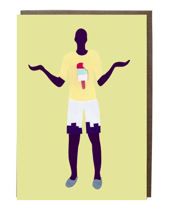 Ice Cream T-Shirt boy Card - sweetdesignstudio