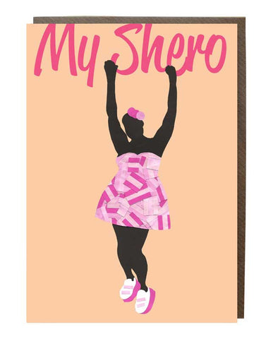 Hands Up Shero @iharteericka Greeting Card - sweetdesignstudio
