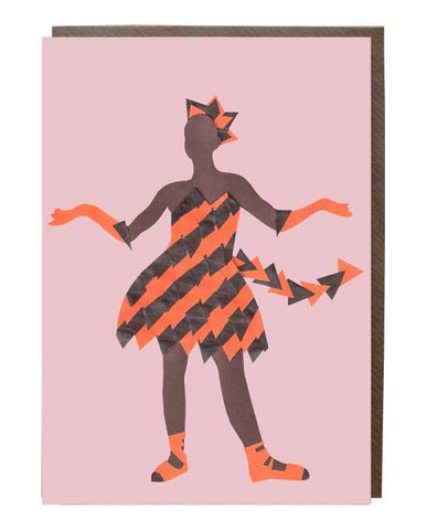 Tiger Girl Greeting Card Jenelle Figgins @jenevolent - sweetdesignstudio