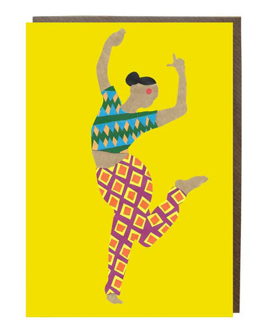 Kerala Dancer Girl Greeting Card - sweetdesignstudio