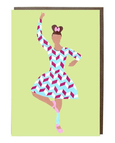 Pirouette Girl: Mel Reis @iaimelreis Greeting Card - sweetdesignstudio