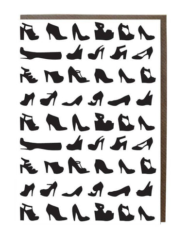 Shoes Silhouette Greeting Card - sweetdesignstudio