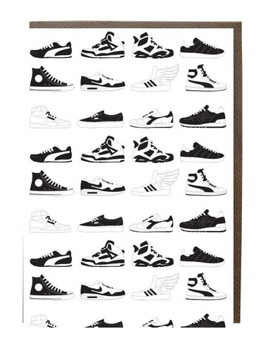 Sneakers Silhouette Greeting Card - sweetdesignstudio