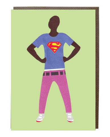 Superman T-shirt Greeting Card - sweetdesignstudio