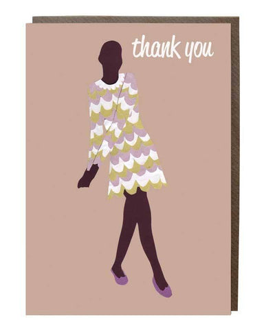 60's Dress Thank You Greeting Card
