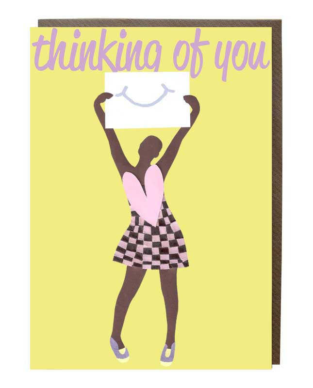 Thinking Of You 'Smile' Girl Greeting Card