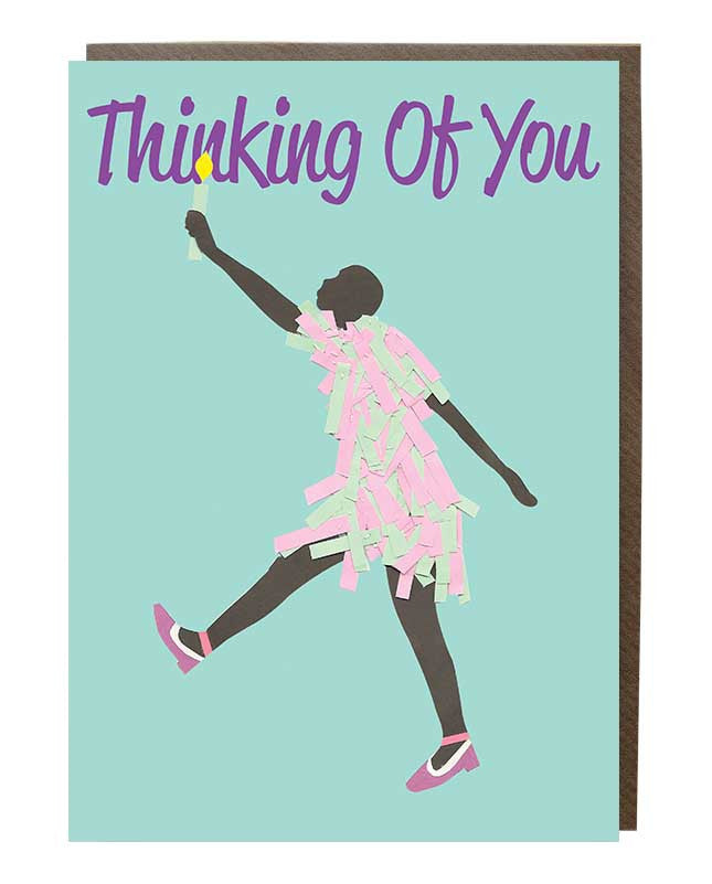 Thinking Of You 'Candle Lit' Girl Greeting Card
