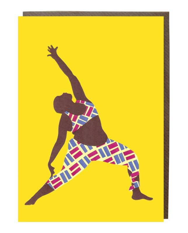 Warrior Yoga Pose Greeting Card @mynameisjessamyn - sweetdesignstudio