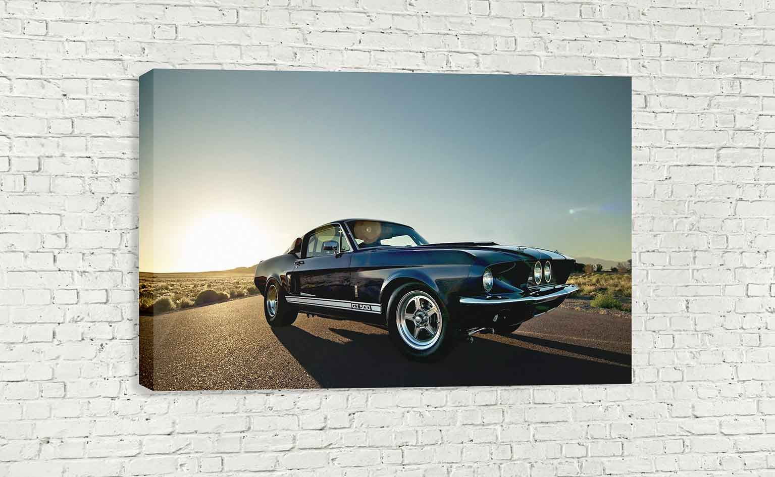 Ford Mustang Muscle Car Vintage Classic 1967 Gt500 Eleanor Wall Art