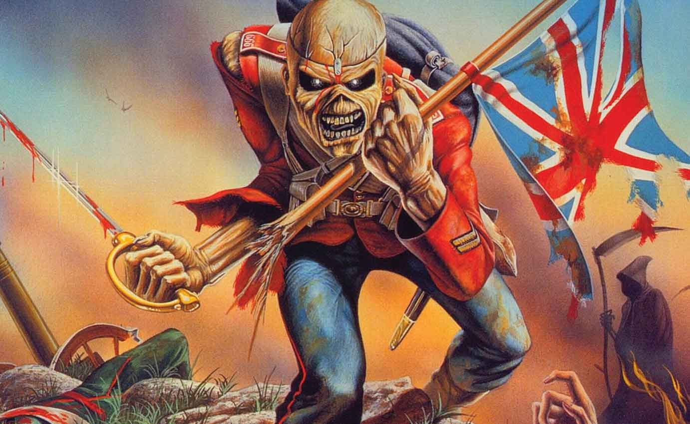 IRON MAIDEN THE TROOPER WALL ART