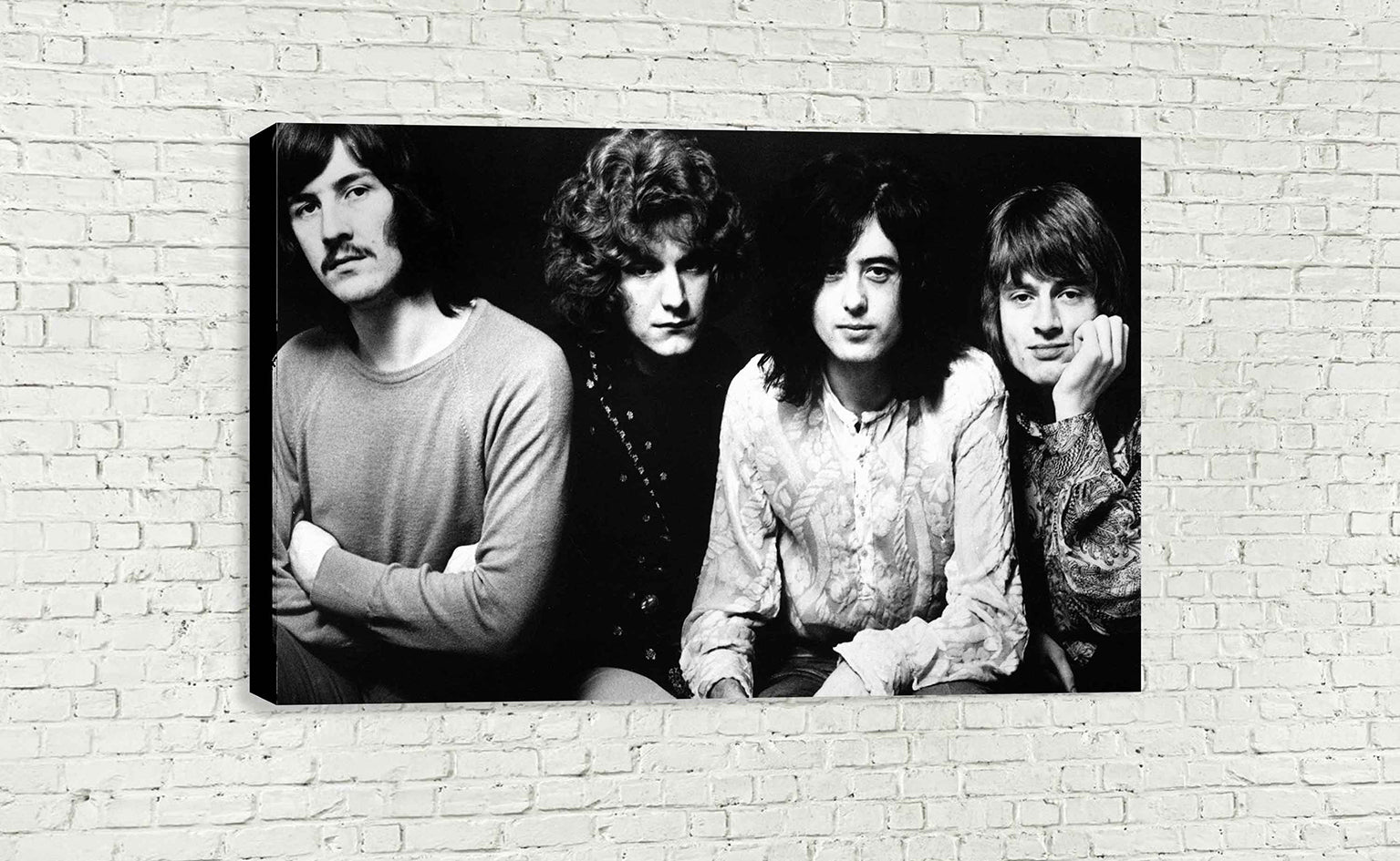 Led zeppelin black and white wall art