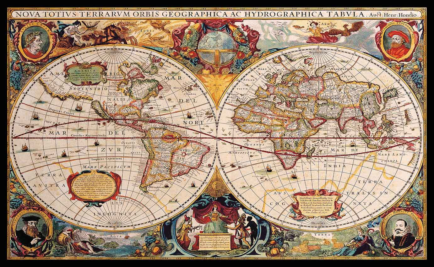 Old World Map Cartography Ancient Atlas Of The World Wall Art